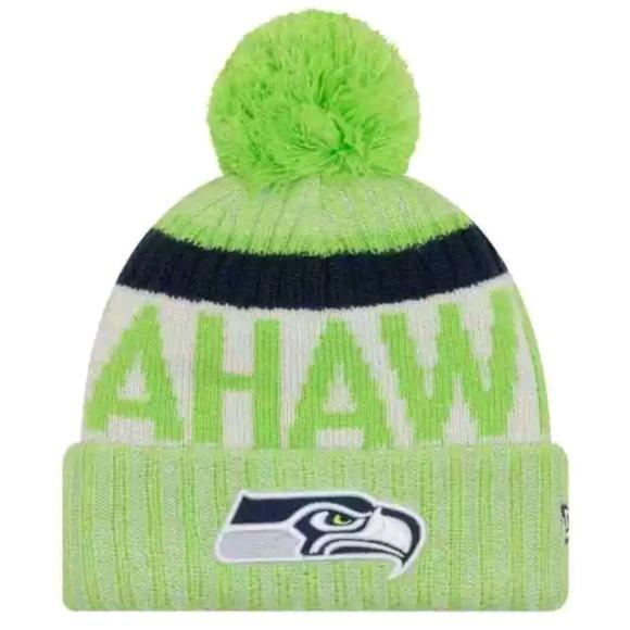0764eec8d07 NEW Seattle Seahawks New Era Sideline Knit Beanie